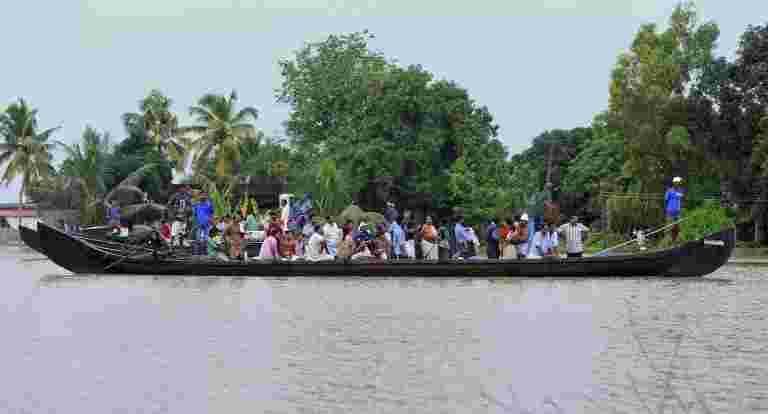 8万人在喀拉拉邦洪水流离失所