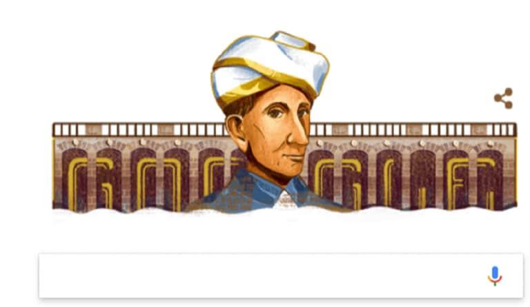 谷歌涂鸦荣誉M Visesvaraya,印度工程父亲